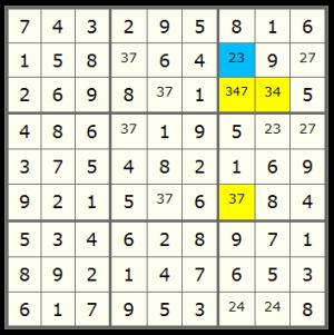 XYZ-Wing - Sudoku Solving Techniques